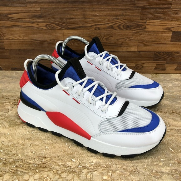New Puma RS-0 808 Sound White Blue Red Size 7.5